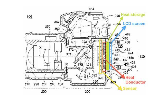 Nikon patenta un acumulador de calor extraíble para sus cámaras