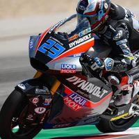 Marcel Schrotter hace en su última vuelta el mejor tiempo de la FP2 del GP de las Américas en Moto2