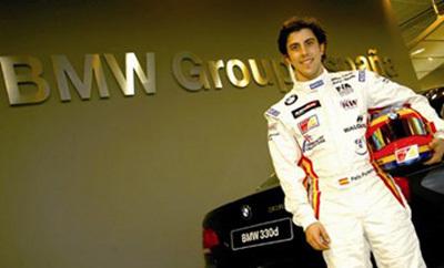 Félix Porteiro con BMW en el WTCC en 2008