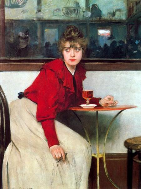 Madeleine Ramon Casas I Carbo El Ajenjo Absenta 1892.