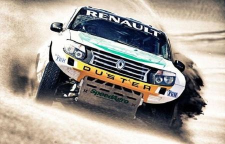 Curiosidades en competición. El Dacia Duster también se atreve con la arena del desierto