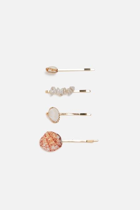 pack pinza conchas perlas