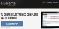 eGarante, servicio de certificación de documentos y comunicaciones