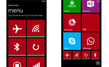 Status Tiles, accesos directos para activar o desactivar conectividad Wi-Fi, Bluetooth y más