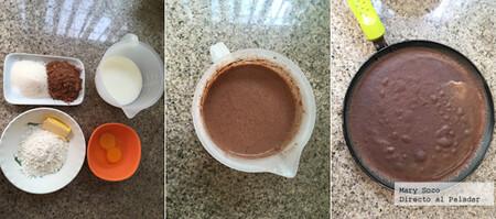 Crepas de chocolate rellenas de crema a la menta. Receta fácil