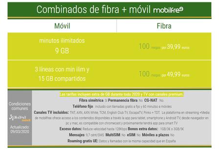 Nuevas Tarifas Combinadas De Fibra Y Movil Mobilfree En Junio De 2020