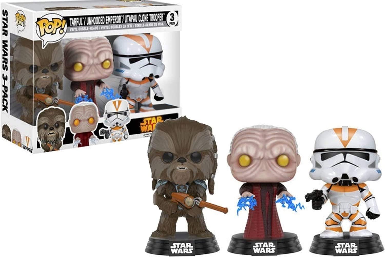 Funko Pop! Star Wars Revenge of the Sith Exclusive - Tarfful, Unhooded Emperor, Utapau Clone Trooper