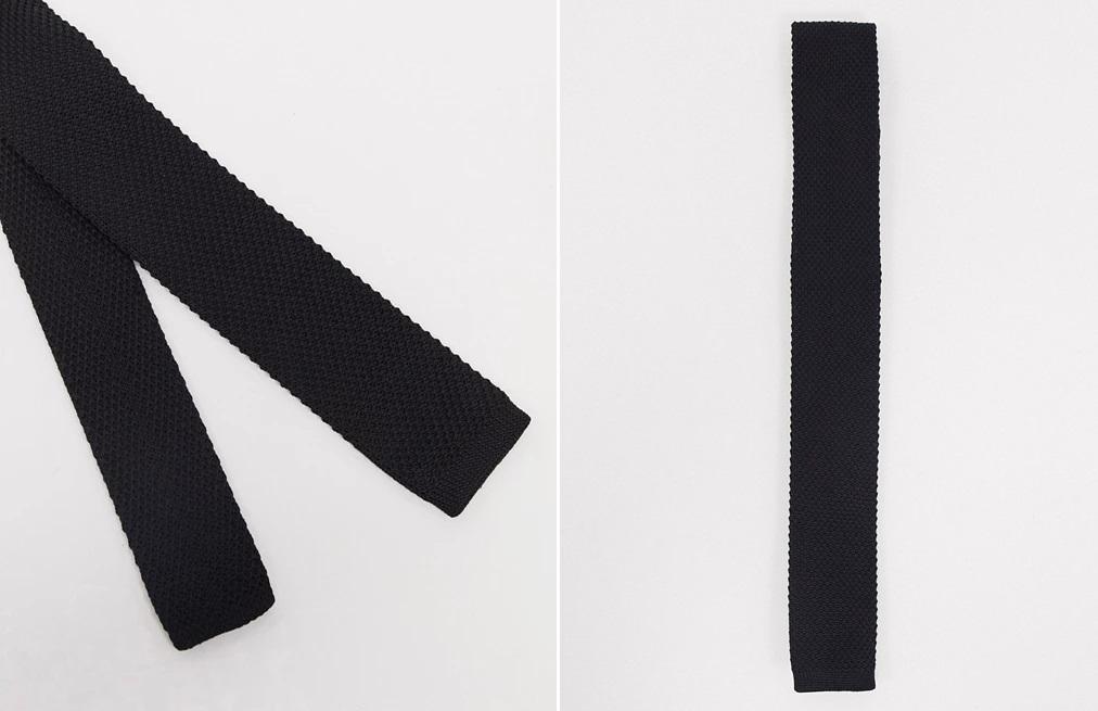Corbata negra de punto de Jack&Jones
