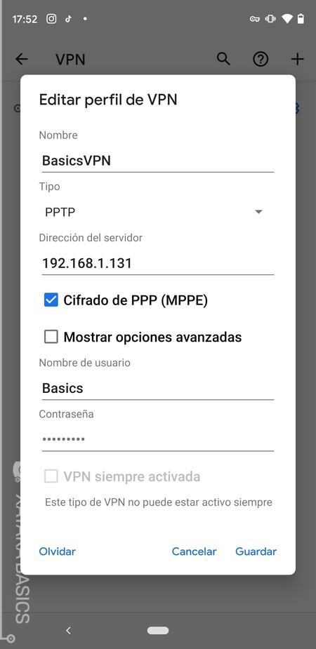 Basics Vpn Android