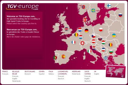 Reserva de trenes de alta velocidad para toda europa