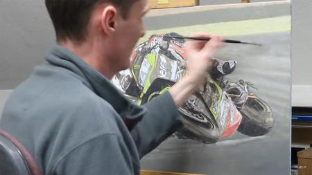 Motos y lienzos, alucina con lo que David Bill es capaz de hacer a partir de una imagen real