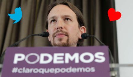 Pedro Sánchez puede ser el dios de los tuits, pero Pablo Iglesias es el rey de los favs
