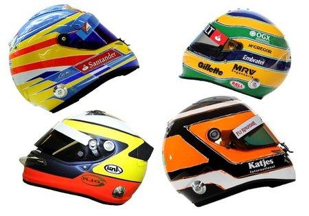 Así son los cascos de los pilotos para la temporada 2012 de Fórmula 1