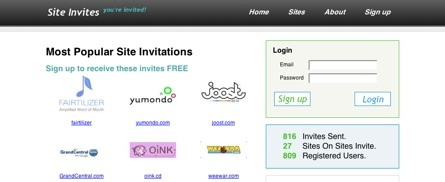 Site Invites, solicita y/o comparte invitaciones