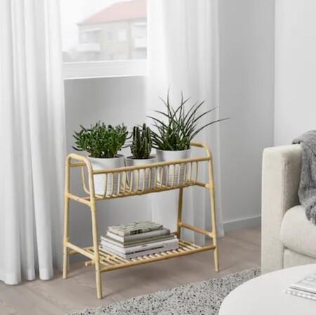 Soporte para plantas de bambú