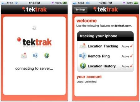 TekTrak, localiza tu dispositivo iOS sin una cuenta en MobileMe