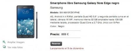 Galaxynoteedge Spain