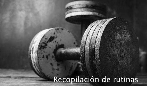 Recopilación de rutinas: torso-pierna típica (II)