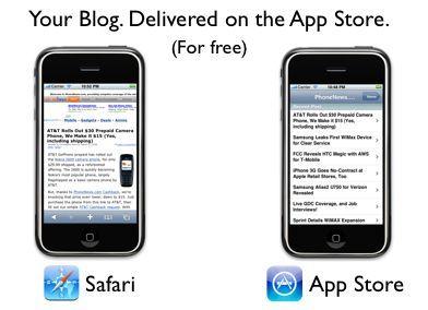 Tu blog en la App Store