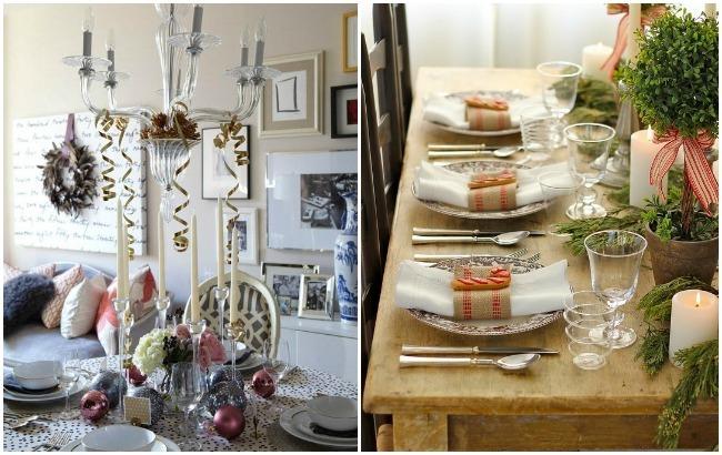 Mesas de Navidad, sofisticada y rústica