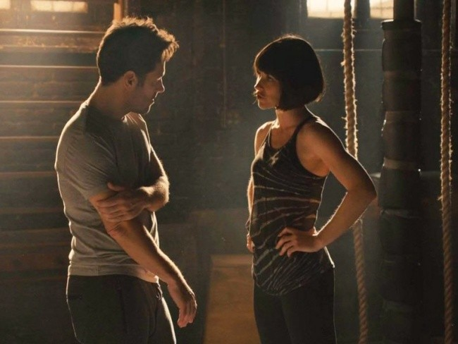 Paul Rudd y Evangeline Lilly en Ant-Man