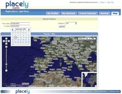 Mapa de localizaciones de Placely