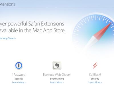 Las extensiones de Safari se ponen al día, ahora es más fácil descubrirlas en la Mac App Store también