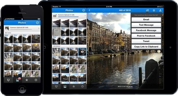 Galerías de fotos en Dropbox para iOS