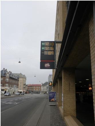 Precios del combustible en Dinamarca en Noviembre de 2011