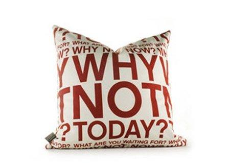 Cojines con mensajes positivos o... ¿coaching aplicado a la decoración?