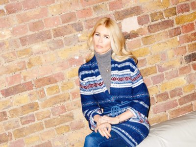 Claudia Schiffer lanza una colección de punto para Stylebop inspirada en España