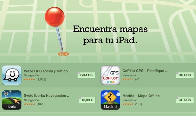 mapas ipad app store apple