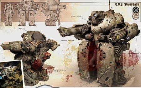 'Gears of War 3', más imágenes del Robot revienta Locust, armas nuevas y personajes