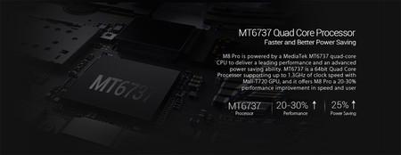 El antiguo MT6737, de cuatro núcleos y 1,3GHz