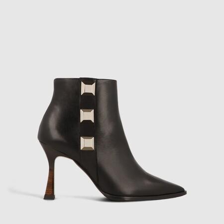Botin Moloco California Negro Ad Oro Zapatos Mujer Online
