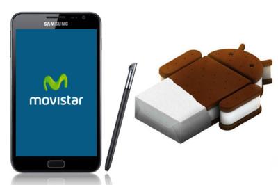 Samsung Galaxy Note (Movistar) se actualiza a Android 4.0 (Ice Cream Sandwich)