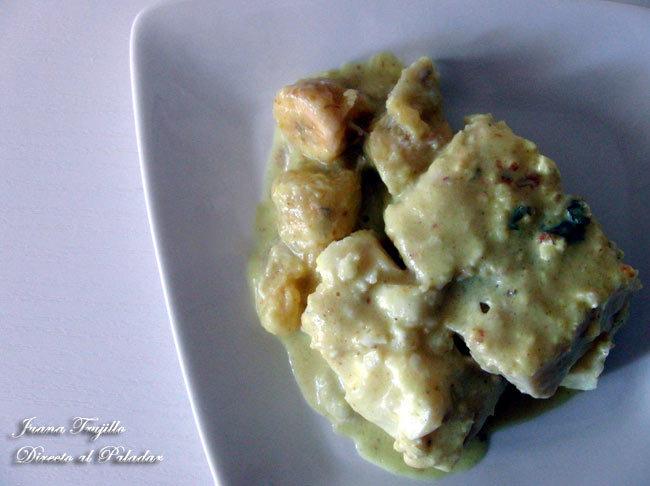 Bacalao en salsa curry