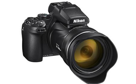 Negro Para Nikon Coolpix P1000 Bolsa de Cámara con apertura de la Batería
