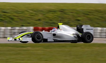 La presentación de Brawn GP 2009, sin publicidad