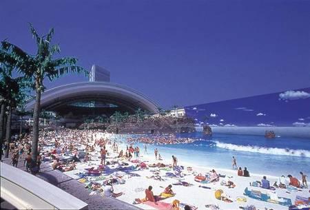 Playa artificial japonesa