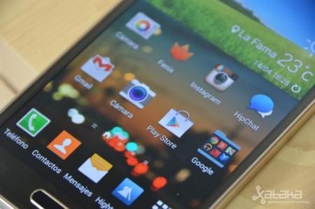 Galaxy S5 pantalla sol