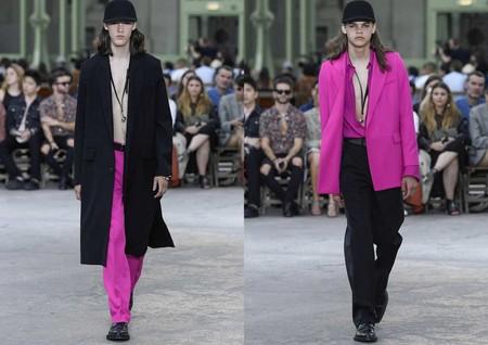Hombre Rosa Pink Trendnecias Hombre Tendencia Paris Fashion Week Spring Summer 2020 05