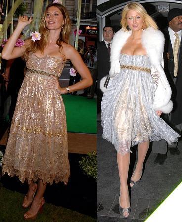 Vestido de Dolce&Gabbana: ¿Paris Hilton o Gisele Bundchen?
