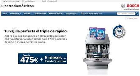 Seis meses de detergente gratis con la compra de un lavavajillas Bosch