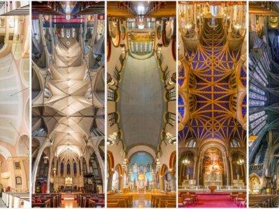 Fotos panorámicas verticales para retratar la belleza de las iglesias de Nueva York