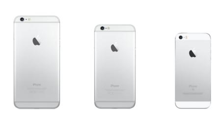 iPhone de varios tamaños SE
