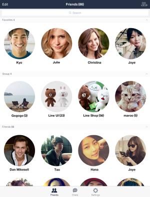 LINE lanza una aplicación optimizada para el iPad siguiendo el camino de sus competidores