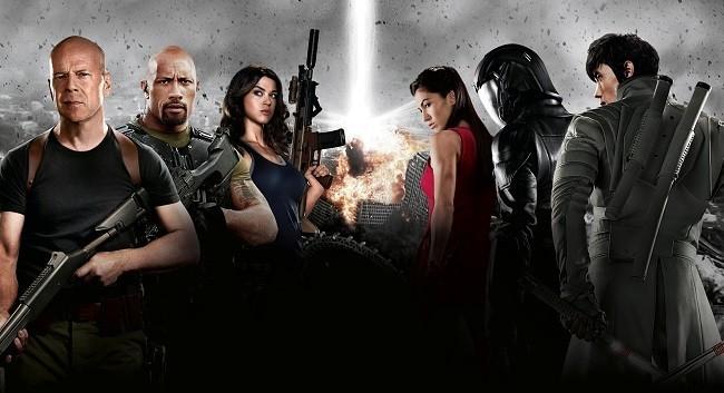 Imagen con un cartel de la película 'G.I. Joe: La venganza'