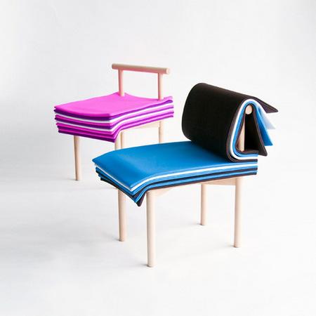 """Una silla muy original, inspirada en el cuento de """"La princesa y el guisante"""""""