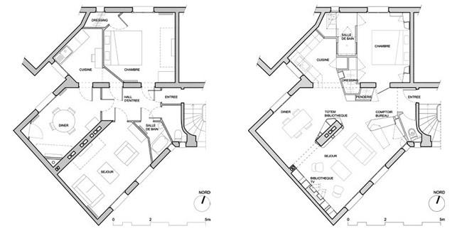 Apartamento parisino - planos